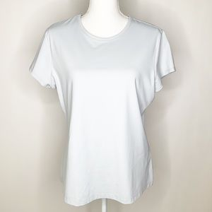 J. McLaughlin silver short sleeve t shirt XL M0228